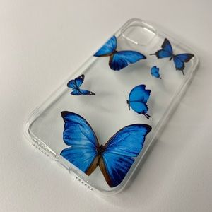 Blue Butterfly Clear IPhone 11 Phone Case